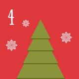 Frohe Weihnachten und guten Rutsch ins Neue Jahr Buntes Weihnachten Advent Calendar Count-down zu Weihnachten 4 Stockfotos