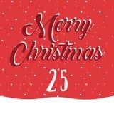 Frohe Weihnachten und guten Rutsch ins Neue Jahr Buntes Weihnachten Advent Calendar Count-down zu Weihnachten 25 Stockbild