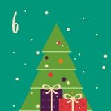 Frohe Weihnachten und guten Rutsch ins Neue Jahr Buntes Weihnachten Advent Calendar Count-down zu Weihnachten 6 Stockfotos