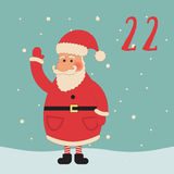 Frohe Weihnachten und guten Rutsch ins Neue Jahr Buntes Weihnachten Advent Calendar Count-down zu Weihnachten 22 Lizenzfreie Stockfotos