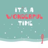 Frohe Weihnachten und guten Rutsch ins Neue Jahr Buntes Weihnachten Advent Calendar Count-down zu Weihnachten 9 Stockbild