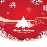 Frohe Weihnachten und guten Rutsch ins Neue Jahr, Design Lizenzfreies Stockfoto