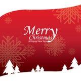 Frohe Weihnachten und guten Rutsch ins Neue Jahr, Design Stockbilder
