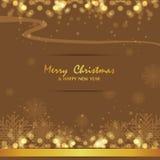 Frohe Weihnachten und guten Rutsch ins Neue Jahr, Design Lizenzfreie Stockbilder
