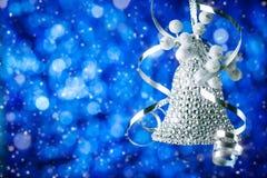 Frohe Weihnachten und guten Rutsch ins Neue Jahr Ein neues Jahr ` s Hintergrund mit Dekorationen des neuen Jahres Neues Jahr ` s  Lizenzfreies Stockbild
