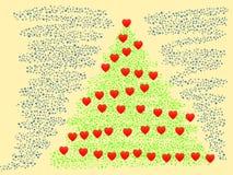 Frohe Weihnachten und guten Rutsch ins Neue Jahr - Illustration Stockfoto