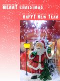 Frohe Weihnachten und guten Rutsch ins Neue Jahr-Karte für Feier lizenzfreie stockfotos