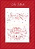 Frohe Weihnachten und guten Rutsch ins Neue Jahr ließen uns feiern Stockbild