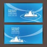 Frohe Weihnachten und guten Rutsch ins Neue Jahr, Vektordesign Lizenzfreie Stockfotos