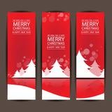 Frohe Weihnachten und guten Rutsch ins Neue Jahr, Vektordesign Stockfotos