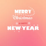 Frohe Weihnachten und neues Jahr Stockfotos