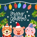 Frohe Weihnachten vecter lizenzfreies stockbild