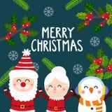 Frohe Weihnachten vecter stockfoto