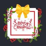 Frohe Weihnachten vecter stockfotografie