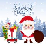 Frohe Weihnachten vecter stockbild