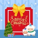 Frohe Weihnachten vecter lizenzfreie stockfotos