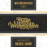 Frohe Weihnachten vector typographic card Stock Image
