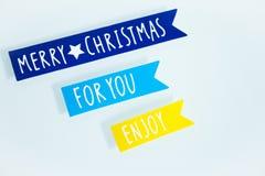 Frohe Weihnachten Verschiedene Weihnachtsdekoration Lizenzfreie Stockfotografie