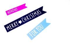 Frohe Weihnachten Verschiedene Weihnachtsdekoration Stockbild