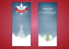 Frohe Weihnachten, vertikaler Hintergrundsatz des Fahnendesigns, Vektorillustration lizenzfreie abbildung