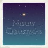Frohe Weihnachten von den Sternen Lizenzfreie Stockfotografie