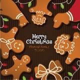 Frohe Weihnachten von unserer Familie zu Ihrem Stockfotos