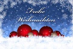 Frohe Weihnachten Wesoło kartka bożonarodzeniowa ilustracja wektor