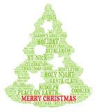Frohe Weihnachten - Wortwolkenillustration lizenzfreie abbildung