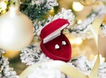 Frohe Weihnachten zum gesamt- Feriengeschenk für sie lizenzfreie stockbilder