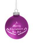 Frohen Weihnachten zu allen Stockbild