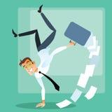 Froher Geschäftsmann, der Handstand tut Lizenzfreie Stockfotos