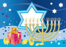 Froher Hintergrund zum jüdischen Feiertag Hanukkah Stockfoto