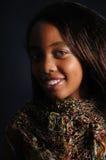 Frohes afrikanisches Mädchen Stockbild