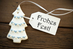 Frohes Fest as Christmas Greeting Royalty Free Stock Image