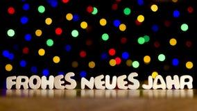Frohes neues jahr, καλή χρονιά στη γερμανική γλώσσα Στοκ Εικόνα