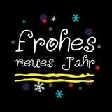 Frohes neues Jahr Szczęśliwy nowy rok niemiec powitanie Obraz Stock