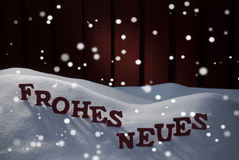 Frohes Neues Means Happy New Year With Snowflakes Royalty Free Stock Image