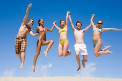 Frohes Team Lizenzfreies Stockfoto