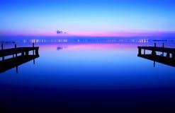 Froid dans le lac Photo libre de droits