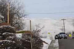 froid de degré de 12f Fahrenheit le réveillon de Noël dans Lewiston, Idaho Photographie stock