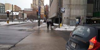 Froid Montréal Canadá do metro do metro imagem de stock royalty free