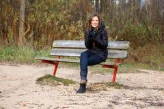 Froid se sentant de femme Photographie stock