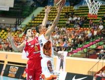 Froilan Baguion #17 neemt aan een ASEAN-Basketballiga deel  Royalty-vrije Stock Foto's
