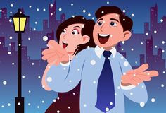 Frolicking In The Snow Stock Photos