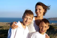 Frolicsome family together Royalty Free Stock Photos