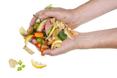 From Hands Of The Cook Food Waste Falls Stock Photo