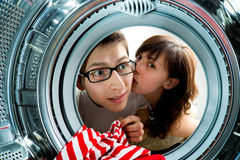 From Inside The Washing Machine View. Stock Images