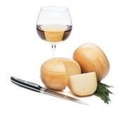 Fromage avec du vin Images stock