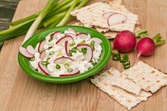 Fromage blanc avec des légumes Photographie stock libre de droits