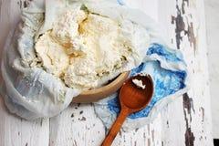 Fromage blanc domestique Images libres de droits
